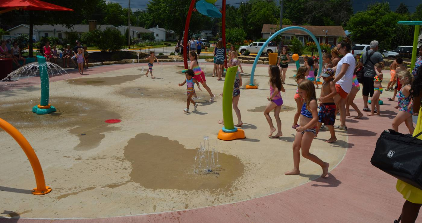 Community Center Announcement at Splash Pad Grand Opening