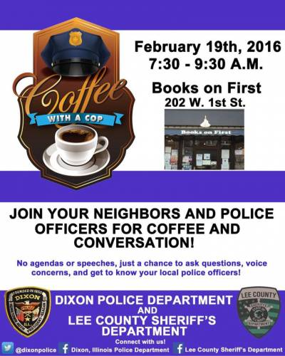 Coffee With A Cop Community Discussion - Feb. 19th