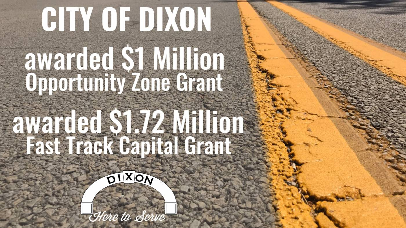 Dixon Wins Two State of Illinois Infrastructure Grants Totaling $2.7Million