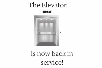 The Elevator Work is Complete